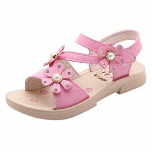 LILICATSandales Bébé Fille Butterfly Bohémien Ete Bout Ouvert Soft Beach Shoes Outside Confort Casual Enfant Sandals,Sandales Soft-Soled Princesse Chaussures de Bébé Sandales Chaussures de Plage