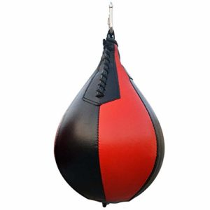 LINGJIA Boxe Vitesse Balle Boxe Poire Forme PU Vitesse Balle Pivotant Sac De Punch Punching Exercice Speedball Vitesse Sac Poinçon Fitness Ballon D'entraînement Noir