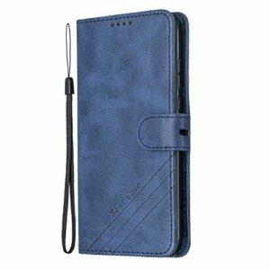 Lomogo Coque Huawei P30 Lite/Nova 4e Portefeuille, Housse en Cuir avec Porte Carte Fermeture par Rabat Aimanté Antichoc Étui Case pour Huawei P30Lite – LOHEX120357 Bleu