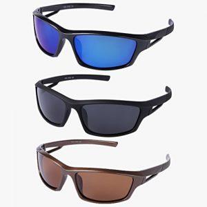 Lunettes de soleil polarisées pour cyclisme, sports de plein air, pêche, lunettes de protection Noir
