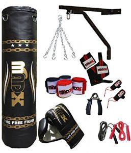 MADX Kit de boxe 13 pièces avec 5 m de frappe garni gants, équerre, Kickbag chaîne
