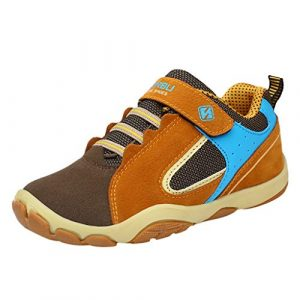 Magiyard_Shoes Chaussures de Sport, Baskets Mode garçon, Sneakers avec Velcro, Tennis sans Lacet, Unisexe Mocassins, Automne et Hiver Loafers, Casual Shoes Marron 38