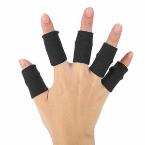 Manches de doigts, 10 pcs Basketball Finger Protector Flexible Sports Gardes Wraps Stretchy Volleyball Support Brace(Noir)
