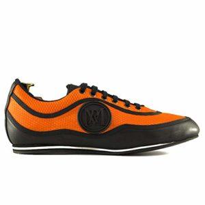 Manuel Reina – Chaussures de Bal Latin pour Homme Urano Orange – Bailar Bachata et Sauce – Chaussures de Sauce – Ataca et Allemande – Orange – Orange, 40 EU EU