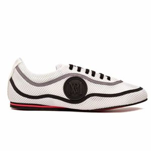 Manuel Reina Chaussures de Danse Latin pour Homme Nicteo B/N Bailar Bachata et Sauce Chaussures de Sauce – Noir – Blanc, 44 EU EU