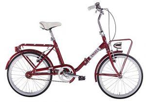 MBM à N g l à, vélo Pliant Mixte Adulte, Adulte Mixte, 330/18, Rosso A20, 20″