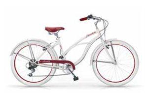 MBM Honolulu, vélo Cruiser Femme, Femme, 125D/18, Avorio A11, 26″