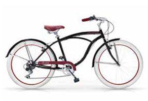 MBM Honolulu, vélo Cruiser Homme, Homme, 125U/18, Nero A01, 26″