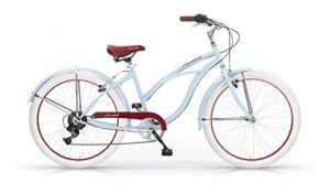 MBM Honolulu Vélo Femme, Bleu Clair, 45 cm
