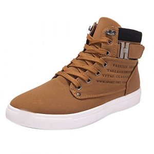 MERICAL Mode Hommes Oxford Casual Haut Haut Chaussures Chaussures Baskets Chaussures(39,Kaki)