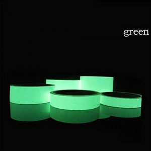 MeterMall Bande Lumineuse réfléchissante en Papier Autocollant détachable pour vélo, Vert, 1.5 cm * 1 m