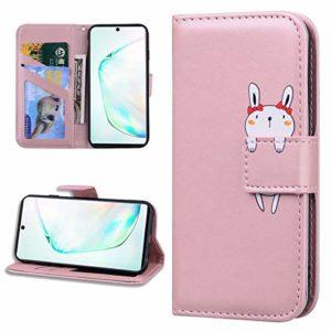 Miagon Animal Flip Coque pour Samsung Galaxy S10 Plus,Portefeuille PU Cuir TPU Cover Désign Étui Folio à Rabat Magnétique Stand Wallet Case,Or rose
