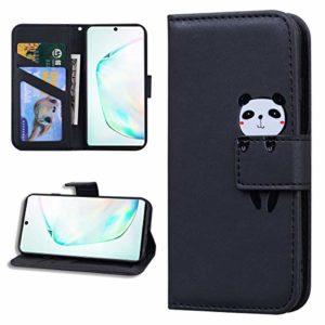 Miagon Animal Flip Coque pour Xiaomi Redmi 7A,Portefeuille PU Cuir TPU Cover Désign Étui Folio à Rabat Magnétique Stand Wallet Case,Noir