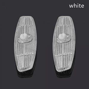 Milter 1 Paire de réflecteurs de sécurité pour Roue de vélo avec Fixation réfléchissante, Mixte, Blanc