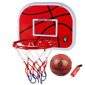 Mini Jeux de Basket Ball Kit Hoop,VicPow Mini panneau de basket-ball accrochant avec la boule et la pompe Jouet Intérieur Extérieur pour des enfants