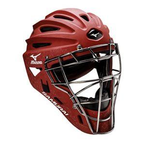 Mizuno pour femme Samurai Fastpitch casque de sécurité pour enfant, rouge cardinal