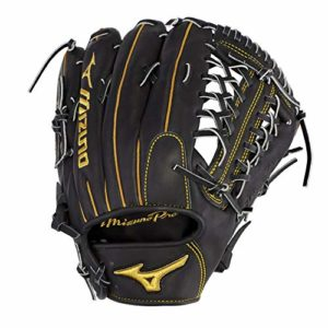 Mizuno Pro Gant de Baseball Série, 312662.FR90.16.1275, Black Shock 2 Web, 12.75″