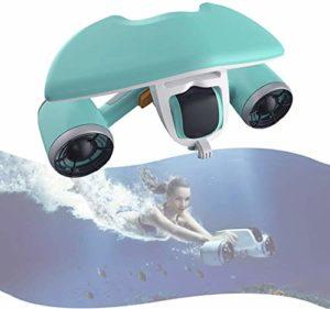 Mnjin Scooter de plongée Portable et Portable, Profondeur extrême de 40 m pouvant être équipé d'une caméra d'action, Conception de Batterie étanche, Vitesse de l'eau immobile de 1,5 m/s, amplifi