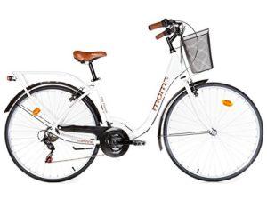 Moma Bikes, Vélo de Ville City Classic 28″, Aluminium SHIMANO 18V