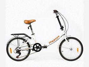 Moma Bikes Vélo de Ville Pliant First Class 20″, Aluminium, SHIMANO 6V, Selle Comfort