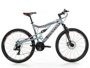 Moma Bikes, Vélo VTT, EQX 27,5″, Aluminium, SHIMANO 24V, Freins a Disque, Double Suspension (Plusieurs Tailles)