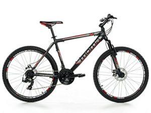 Moma Bikes Vélo VTT, GTT26″, Aluminium, SHIMANO 24V, Freins a Disque, Suspension Avant (Plusieurs tailles)