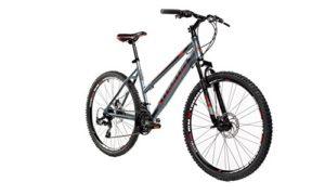 Moma Bikes Vélo VTT, GTW26″, Aluminium, SHIMANO 24V, Freins a Disque, Suspension AvantGris (noir) – M-L