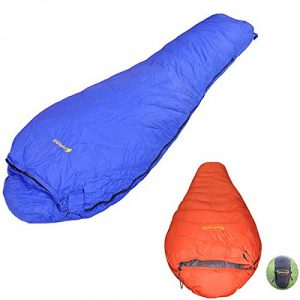 Moppi Camping en plein air l'hiver gris bas nylon indéchirable sac de couchage chaud