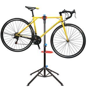 MVpower Pied d'Atelier avec tools pour Vélo Support Stand Maintenance Réparation Workstand Mécanicien pour Vélo VTT – Pivotant jusqu'à 360°- Réglable 115 – 170cm