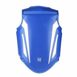 MxZas Adultes Épaissies en Cuir Garde d'enfants Coffre Taekwondo Karaté Kickboxing Formation Body Protector Trois Couleurs en Option Protecteur du Sein (Color : Blue, Size : S)