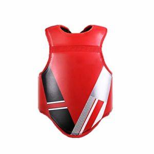 MxZas Karaté Coffre Garde Enfants Adultes Taewondo Plastron Vêtements De Sport Équipement De Boxe Protecteur du Sein (Color : Red, Size : S)