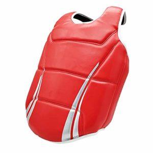 MxZas Kickboxing Karate Plastron Garde Enfants Adultes Sports Boxe Équipement De Protection Protecteur du Sein (Color : Red, Size : S)