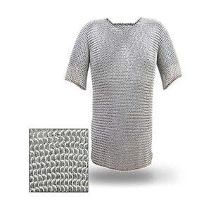 NASIR ALI meilleure qualité de renfort en aluminium jaseron Chemise, Aluminium Chaîne Mail Cosutme