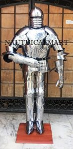 NAUTICAL MART German MaximilIian Full Suit Of Plate Armour Wearable Halloween Costume