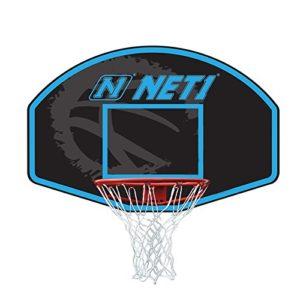 NET1 Panneau Vertical et système de But de Basket-Ball Bleu 76 x 50 cm