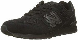 New Balance 574v2, Baskets Mixte Enfant, Noir (Black/Black TB), 34.5 EU