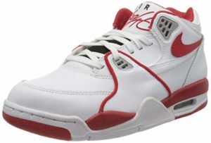 Nike AIR Flight 89 Le, Chaussure de Basketball Homme, White University Red White Wolf Grey, 40.5 EU