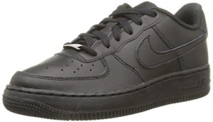 Nike Air Force 1 (GS), Baskets Garã§On, Noir (Black/Black-Black), 40 EU
