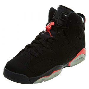 Nike Air Jordan 6 Retro BG, Chaussures de Sport garçon – différents Coloris – Noir/Rouge (Black/Infrared 23), 39 EU