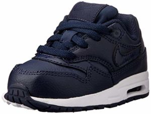 Nike Air Max 1 (TD), Chaussures d'Athlétisme garçon, Multicolore Obsidian/White 402, 23.5 EU