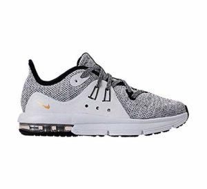 Nike Air Max Sequent 3 (PS), Chaussures d'Athlétisme garçon, Multicolore Black/White/Metallic Gold 000, 31 EU