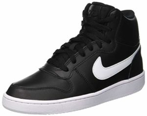Nike Ebernon Mid, Chaussures de Basketball Femme, Noir (Black/White 001), 36.5 EU