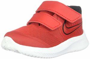 Nike Star Runner 2, Chaussures d'Athlétisme Mixte Enfant, Multicolore (University Red/Black/Volt 600), 22 EU