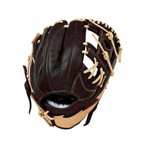 no brand Durable Gants de Base-Ball Souple et Durable Thicken Gants de Softball résistant à l'usure Gants de Baseball Droit Throw Main for Adultes Jeunes (Couleur : Marron, Taille : 11.5 inch)