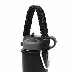 NO LOGO 1 * Portable Paracord Poignée Bouteille Bracelet Cordon de sécurité Décoration Cordes Nouveau Fit for Hydro Flask Bouteilles Universal Oz Wide Mouth (Color : White Point)