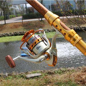 NO LOGO Nouveau 12BB Spinning Style de Moulinet EF2000 EF4000 EF6000 série Ultra-léger Pêche Durable Baitcasting Canne à pêche Pesca (Bearing Quantity : 12, Spool Capacity : 5000 Series)