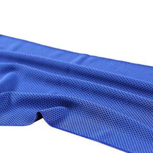 NoyoKere Serviettes de Natation en Microfibre à Séchage Rapide Serviette de Sport Serviette de Glace Froide Sense Serviette de Séchage Rapide Serviette de Sport Yoga Mat Blanket Bleu foncé