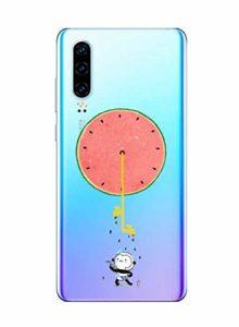 Oihxse Clair Case pour Huawei Enjoy 10 Plus/Y9 Prime 2019 Coque Ultra Mince Transparent Souple TPU Gel Silicone Protecteur Housse Mignon Motif Dessin Anti-Choc Étui Bumper Cover (A3)