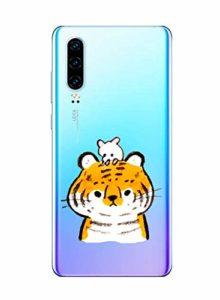 Oihxse Clair Case pour Huawei Honor 8C Coque Ultra Mince Transparent Souple TPU Gel Silicone Protecteur Housse Mignon Motif Dessin Anti-Choc Étui Bumper Cover (A1)