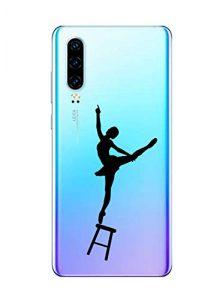 Oihxse Clair Case pour Huawei Honor Note 10 Coque Ultra Mince Transparent Souple TPU Gel Silicone Protecteur Housse Mignon Motif Dessin Anti-Choc Étui Bumper Cover (A11)